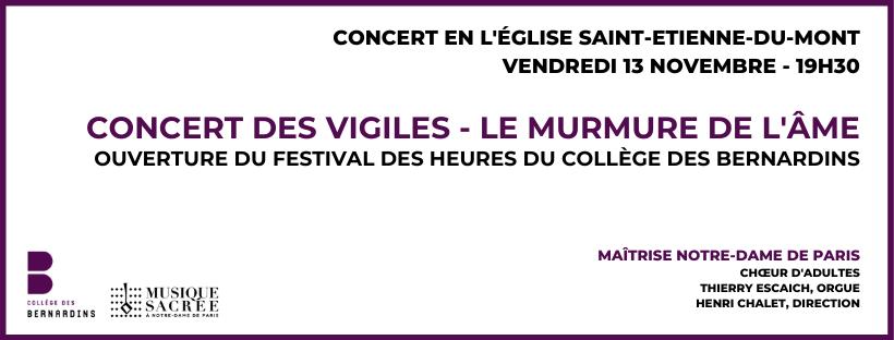 Concert des Vigiles – Le Murmure de l'Âme