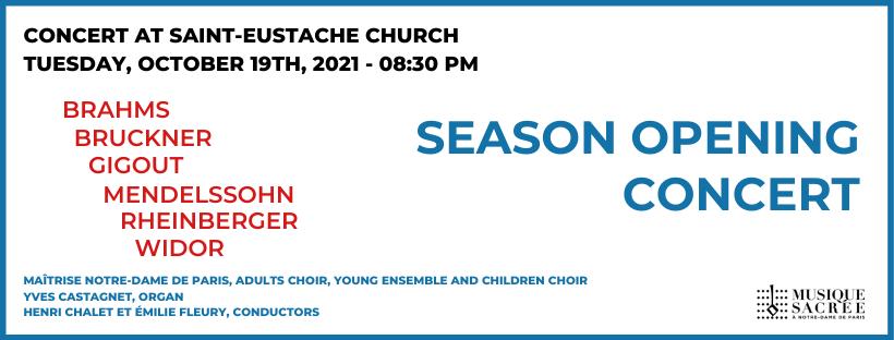 Opening Concert, Brahms – Bruckner – Mendelssohn
