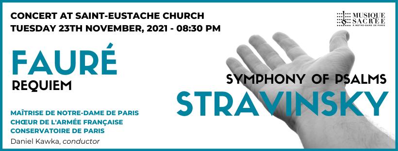 Fauré, Requiem – Stravinsky, Symphonie of Psalms